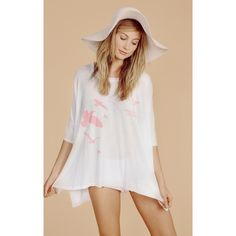 """Wildfox Seaside Dreamer T shirt NWT Brand new with tags Wildfox """"Seaside Dreamer"""" t-shirt with tags. 50% cotton/50% polyester. Super cute oversized t! Great for summer!! Sold out on website! Wildfox Tops Tees - Short Sleeve"""