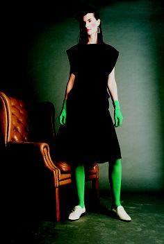 Dress   Perspex Heeled Leather Broques   Perspex Earring all JOANNE HYNES 2001 The Past, Archive, High Neck Dress, Heels, Leather, Dresses, Fashion, Turtleneck Dress, Heel