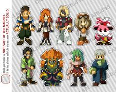 32bit Xenogears  Car/Refrigerator Magnets by carl895 on Etsy