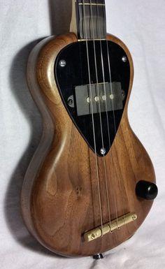 Bear Cub mini electric tenor travel guitar