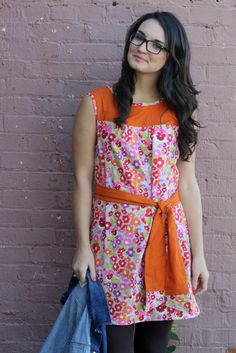The Ruby Dress sewn with Nel Whatmore Fabric // www.SewCaroline.com