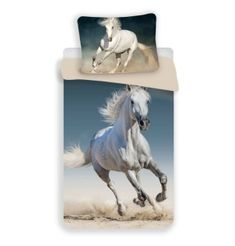 Detské obliečky 140x200 Kôň biely 01 Animal Pictures, Sweet Home, Marvel, Animals, Products, White Horses, Comforter Set, Duvet, Linens