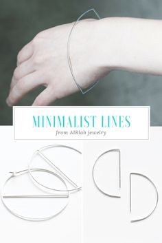 Minimalist jewelry. Minimalist earrings, Hoop earrings, Minimalist bangle bracelet. Minimalist Earrings, Minimalist Jewelry, Geometric Necklace, Wedding Stationary, Best Day Ever, Modern Jewelry, Flirting, Bangle Bracelets, Fashion Jewelry