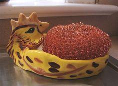 Handmade Chicken Little Sponge or Soap by GreenLeafStudiosEtsy, $14.99