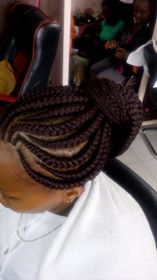mohawk braid styles The fashions of the are here again and among them are box braids. These cor Mohawk Braid Styles, Hair Styles, Black Women Hairstyles, Braided Hairstyles, Three Strand Twist, Braid Designs, Braids For Black Hair, Cornrows, Box Braids