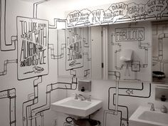 Timothy Goodman shows the ladies whats up in the ADC Hotel Bathroom in NYC. Because, girl- you fly.