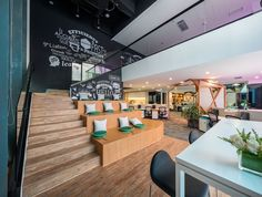 Collaborative space at Vanke's Co-Creative Office Space in Shanghai