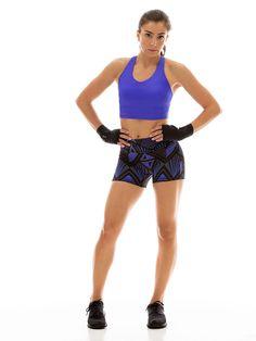 a1b2716c21f30 Crop Top with Shelf Bra in  Solid Peri  Workout Leggings