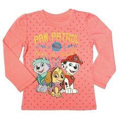 Paw Patrol Toddler Girls' Long Sleeve T-Shirt - Coral