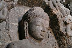 Ellora, Buddha-Statue