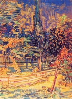 Stone Steps In The Garden Of The Asylum 1889 | Vincent van Gogh