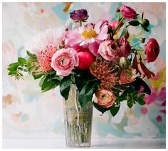 too much pink, but pincushion + rannunculus = true love