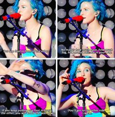 Hayley Williams in Monumentour. Her and Pete were so inspirational.