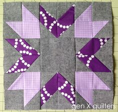 Blueberry Pie Bee Block on gen X quilters