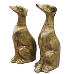 Sculptural Cast Brass Whippet/Greyhound Dog Figures. #shopgoodwill #goodwill #auction