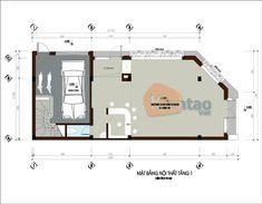 Thiết kế kiến trúc nhà ống cao 5 tầng 2