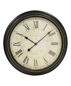 Look at this #zulilyfind! Postcard Roman Wall Clock #zulilyfinds