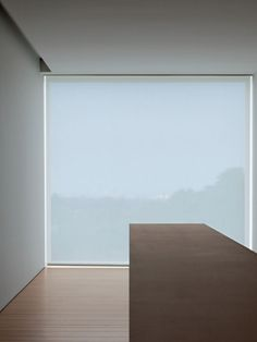 "John Pawson inspiration, creating an optical illusion of a separation of color, material, and size to create a ""jutting"" ""3D"" effect."