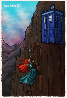"""And found a suspicious blue police box. 