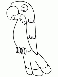 Birds Parrot3 Animals Coloring Pages