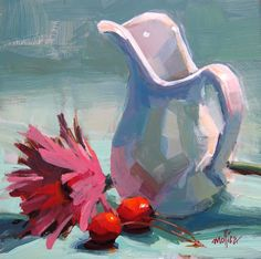 Patti Mollica still life, pink and grey canvas art Painting Still Life, Still Life Art, Painting For Kids, Block Painting, Oil Painting Abstract, Still Life Photos, Pictures To Paint, Love Art, Painting Inspiration