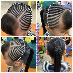 Perfect for school Cute Little Girl Hairstyles, Baby Girl Hairstyles, Kids Braided Hairstyles, Curly Hair Tips, Braids For Long Hair, Curly Hair Styles, Natural Hair Styles, Swag Hairstyles, Girl Hair Dos