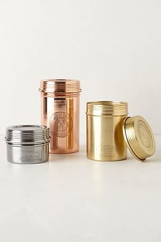 Mixed metals candles Anthro