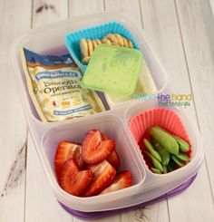 Easy and Fun Lunches for School! | packed in @EasyLunchboxes containers