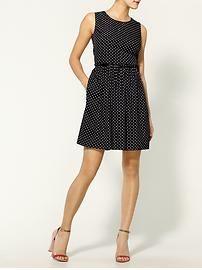 sleeveless waist dot print dress....it's only $345......