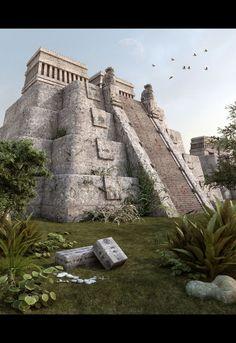 3ds Max Piramide Azteca