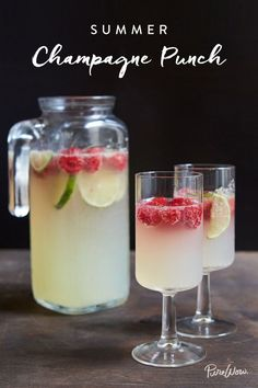 Fact: This Summer Champagne Punch Is the Best Way to Cool Down via @PureWow via @PureWow