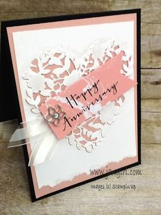 Stampin' Up Bloomin' Heart die and timeless love  see my blog: www.jangirl.com
