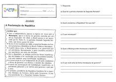 ATIVIDADES PROCLAMAÇÃO DA REPUBLICA 5° ANO — SÓ ESCOLA