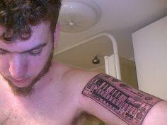 synth tatoo idea Tattoo Inspiration, Galleries, Retro Fashion, Tatoos, Tattoo Designs, Ideas, Tattooed Guys, Thoughts, Tattoo Patterns
