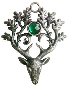 Greenwood  Pewter Stag Lord for Protection & by mysticdawnjewelry