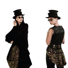 Heritage by - a piece of history to wear. Draped Skirt, Leather Vest, Goth, Metallic, Embroidery, History, Skirts, How To Wear, Vintage