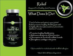 Promotes healthy flexible joint function and strengthens cartilage with all natural ingredients.