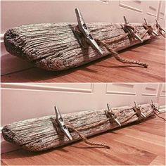Driftwood Boat Cleat Hanging Rack by TidalBayTreasures on Etsy: