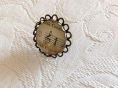 Anillo musical maxi, perteneciente a nuestra colección clave de sol y con aires vintage.