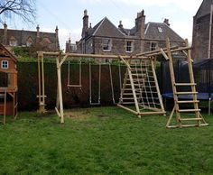 Adapted A Frames allow you to choose the exact configuration of swing, slide and climbing activity. We advise on the most suitable product for your garden.