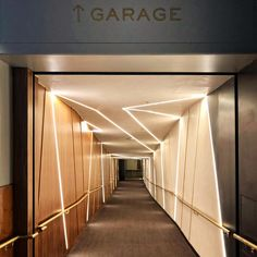 Stripes of light // The most dramatic parking garage entry I've ever seen. Interior Design Courses, Interior Design Images, Garage Entry, Melting Pot, Hallway Decorating, Corridor, Light Art, Wood Wall Art