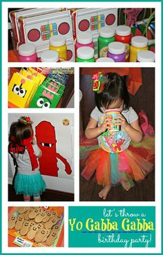 Throwing a Yo Gabba Gabba Birthday Party - decorations, snacks, and party favors.