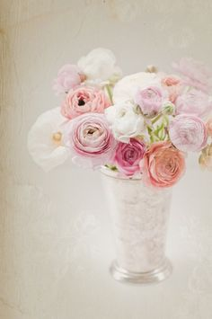 This delicate peony arrangement is perfect for a romantic Easter table