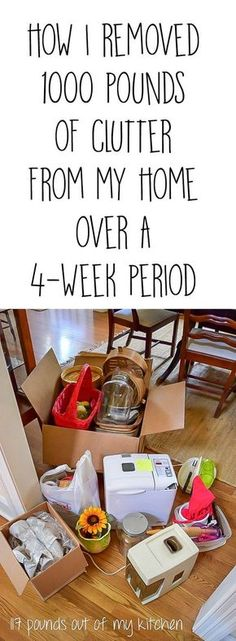 The Unclutter Your Nest Boot Camp is in our kitchens office/craft room this week.Tips and suggestions for how I removed 1330 lbs of clutter from my home & a list of great places to take your discards.The Unclutter Your N Declutter Your Home, Organizing Your Home, Organizing Tips, Decluttering Ideas, Casa Clean, Clean House, Organisation Hacks, Home Organization, Boot Camp