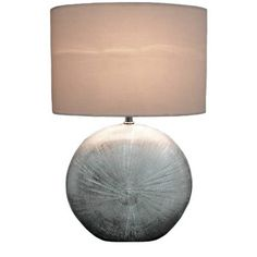 Silver Lamp Shades Impressive Buy Heart Of House Austin Stack Ball Table Lamp  Chrome At Argosco Inspiration Design