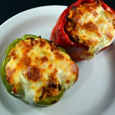 """Stuffed peppers (I used turkey sausage, """"meatloaf tomato sauce"""", and quinoa instead of rice.) Great easy recipe!"""