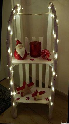 Alter Schlitten zur schicken Weihnachtsdeko umgewandelt - #alter #schicken #schlitten #umgewandelt #weihnachtsdeko #zur