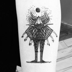 "joncarling: "" My 'Dream Guide' drawing in tattoo form by Kelly Killagain at Premium Blend in Manahawkin, New Jersey """