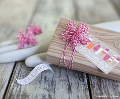 Gift wrap using baker's twine.