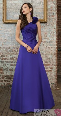 purple bridesmaid dress